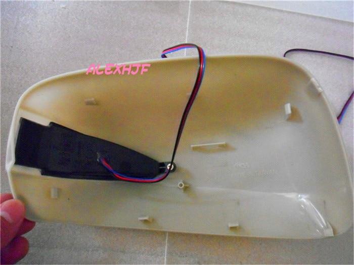 Автомобильное зеркало заднего вида крышка с желтый светодиодный поворотники и белый позиции Габаритные огни чехол для Honda Fit/Jazz/Insight - 3