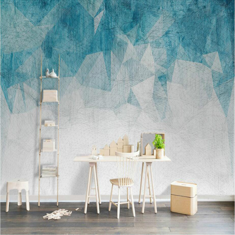 beibehang papel de parede Modern abstract line wallpaper black ...