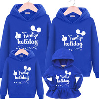 Christmas Family Matching Clothes Family Look Baby Girls Dress Boys Mother Father Clothes Cotton Hooded Cartoon