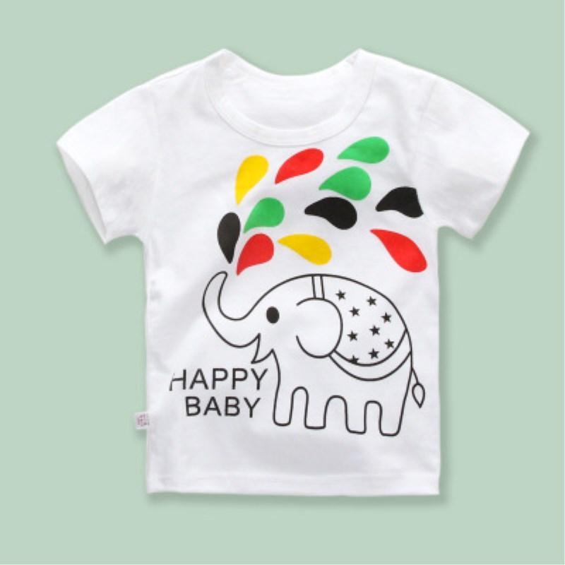 New Boys & Girls T-shirts Pop Heroes Cotton Short-sleeved T-shirts Printing Children's Cartoons Gray Children's Clothing
