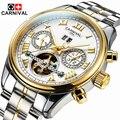 Guaranteed 12 month ! Tourbillon watches luxury men mechanical watches Carnival sapphire Waterproof 30m fashion men watch hours