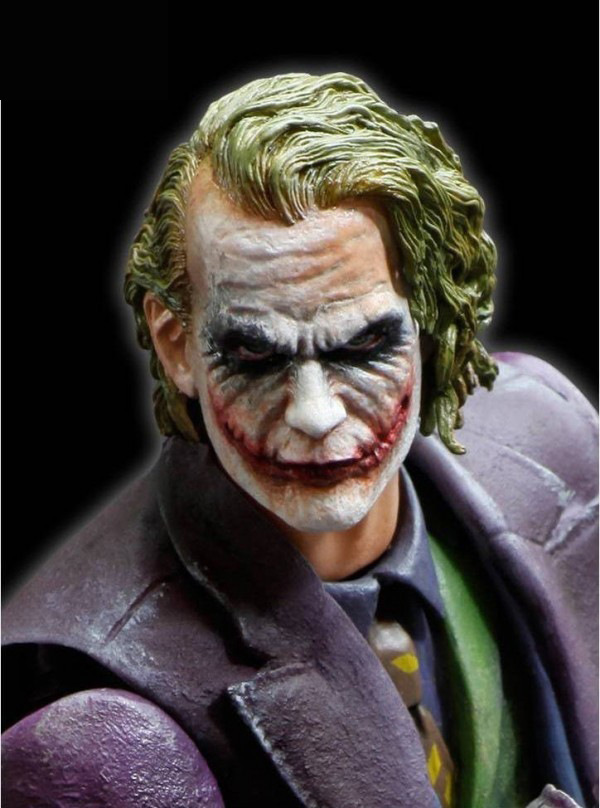 Vente chaude Le Chevalier Noir Le Joker 26 cm Figurine Jouets Batman Heath Ledger Joker Jouets D'action Batman Modèle poupée de Collection