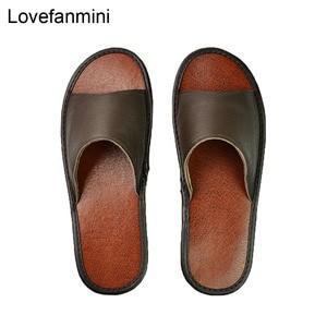 Image 1 - אמיתי פרה עור נעלי בית מקורה זוג החלקה גברים נשים בית אופנה מזדמן אחת נעלי PVC רך סוליות אביב קיץ 515