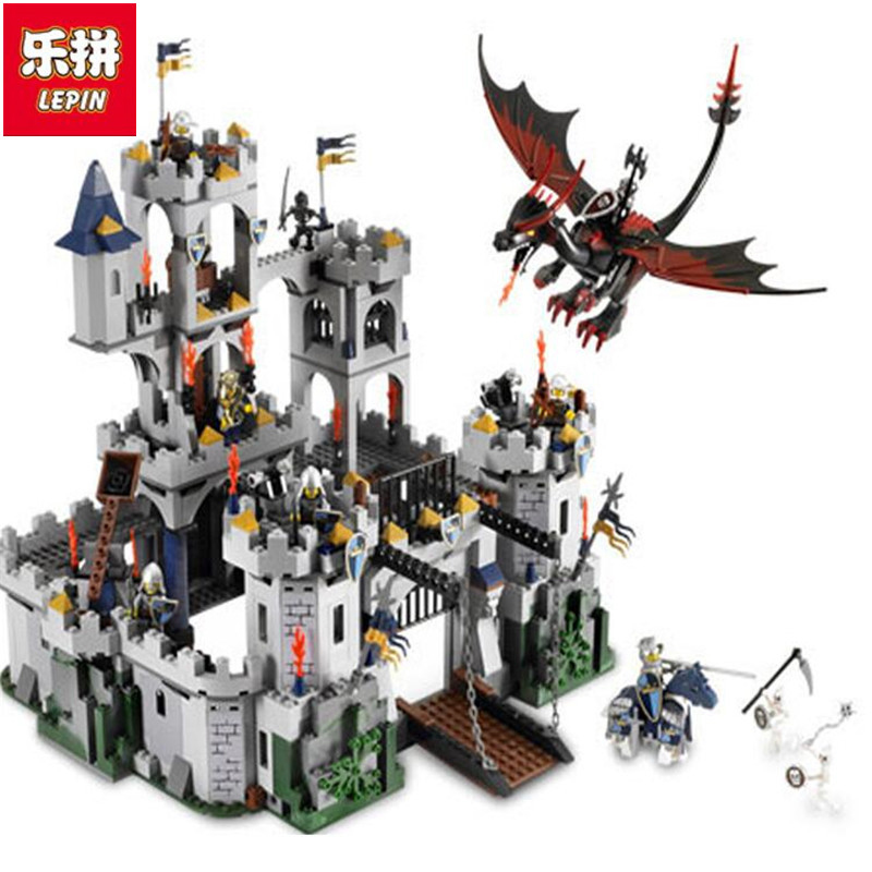 In Stock DHL Lepin Sets 16017 1023Pcs Movies Figures Castle King's Siege Model Building Kits Blocks Bricks Educational Toys 7094