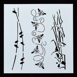 Bee Stencil Template Mold Pad for Sugar Sieve Art Craft DIY Die Spraying