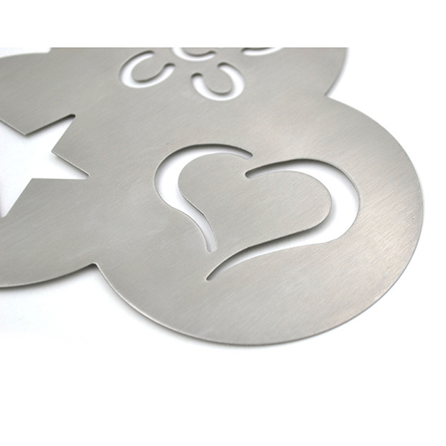 3 in 1 Stainless Steel Coffee Stencil