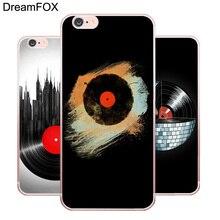 Vinyl record phone case for iPhone X 8 7 6 6S Plus 5 5S SE 5C 4 4S