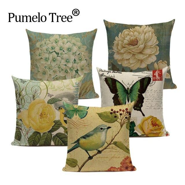 Elegante cuscino della copertura Animale carino Bird on the tree Divano Auto Cop