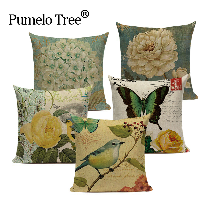 Stylish cushion cover Animal cute Bird on the tree Sofa Car Covers Decorative 45Cmx45Cm Square Sofa/Bed 3D Printed Pillow Cover