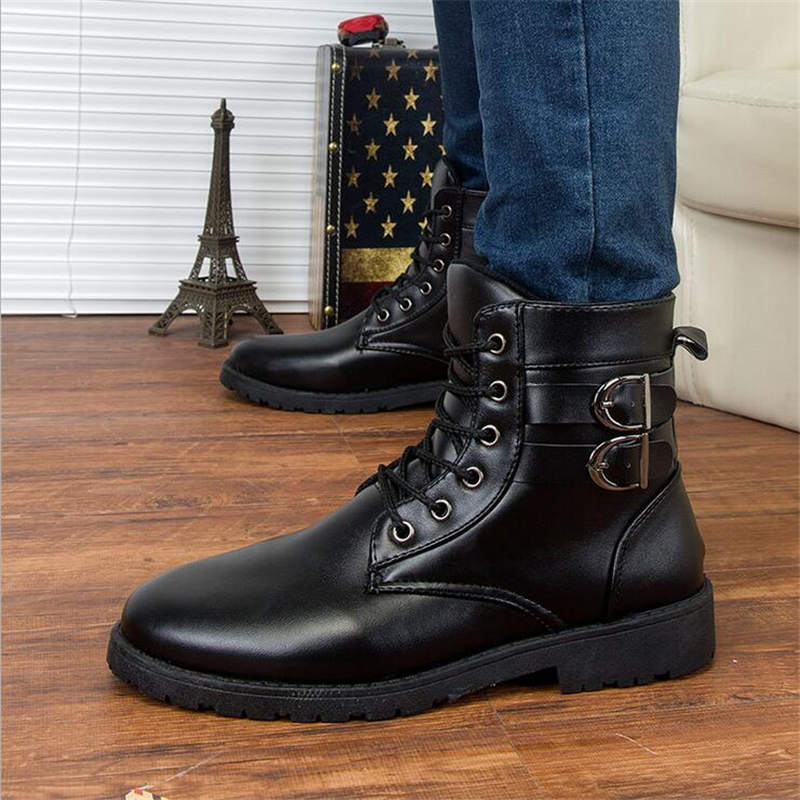 Men Boots shoes 2016 Man Leather military Boots Desert Combatable Boots Autumn winter Shoes Travel Leather High Boots Male
