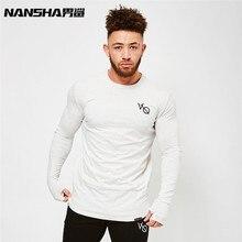 NANSHA Brand Men Compression Long Sleeve Shirts Muscle Fitness T shirt For Men Crossfit Elastic Slim