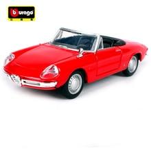 Bburago 1:32 ALFA ROMEO SPIDER vintage coche Retro Coche clásico de fundición modelo de coche de juguete nuevo en caja envío gratis 43211