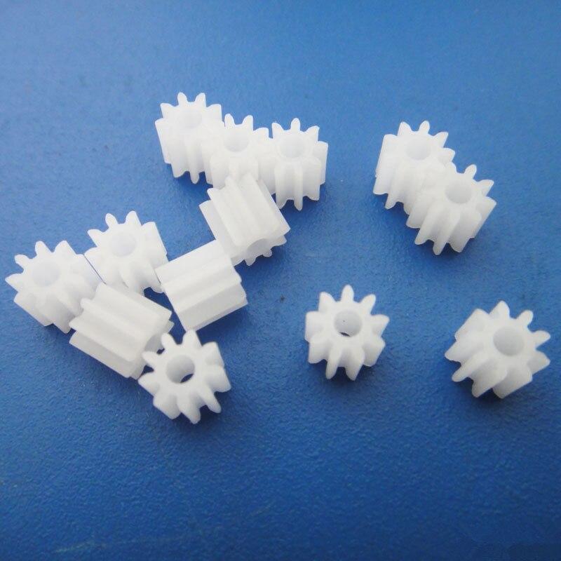10pcs/pack J338 1009A 0.5 Module White Plastic Motor Gear DIY Small Gears Free Shipping Russia