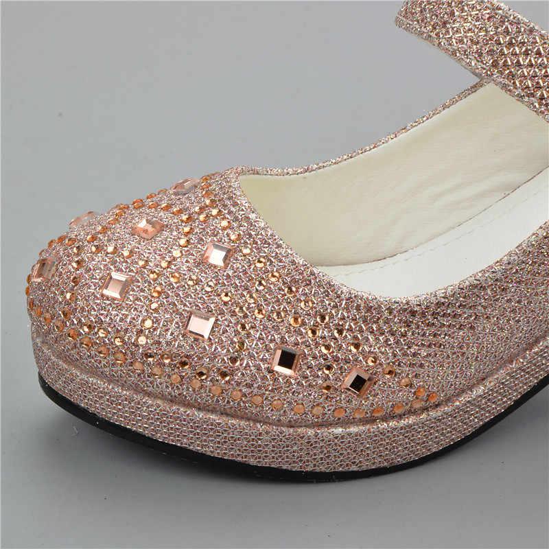 53b84d3ad3e ... Sandalias ULKNN 2019 para niñas niños diamantes de imitación zapatos de  fiesta de boda zapatos de ...