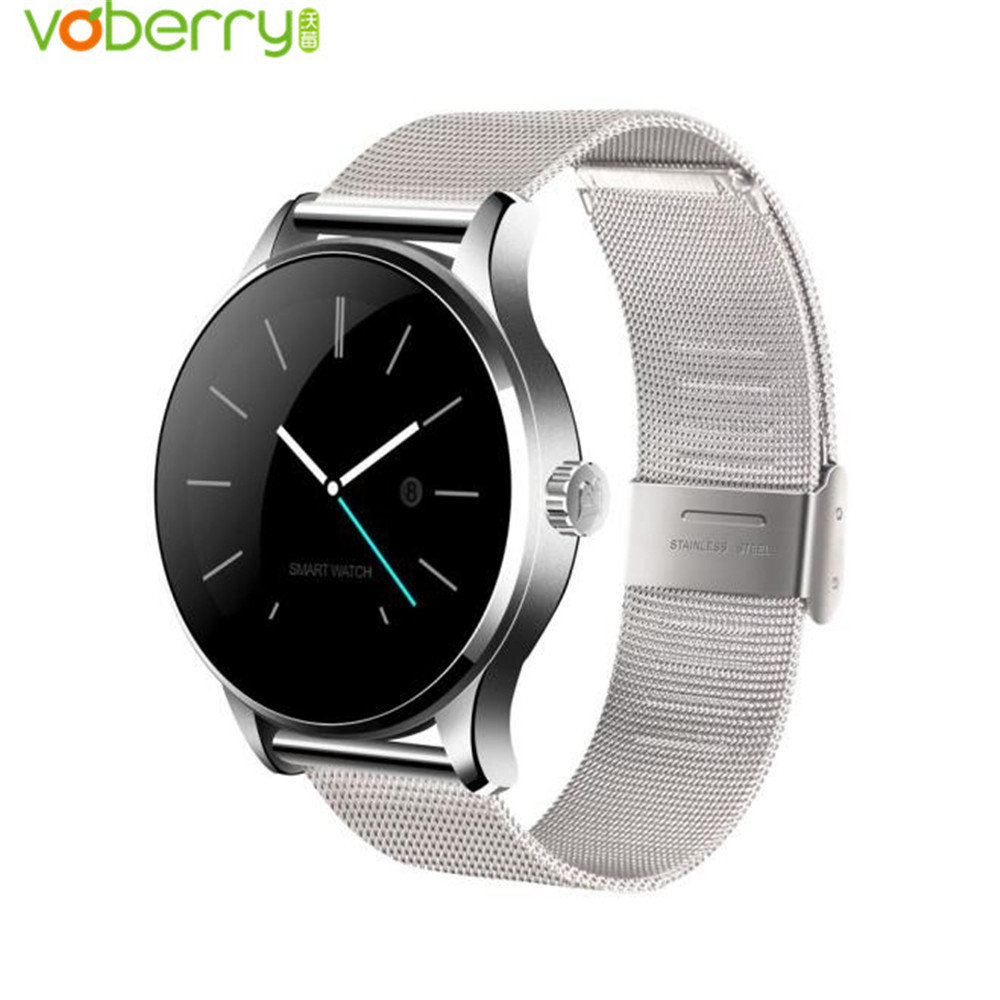 VOBERRY Smartwatch 1.22 Inch Round Screen Fitness Tracker Heart Rate Monitor Bluetooth Smart Watch For IOS Android PK KW88 все цены