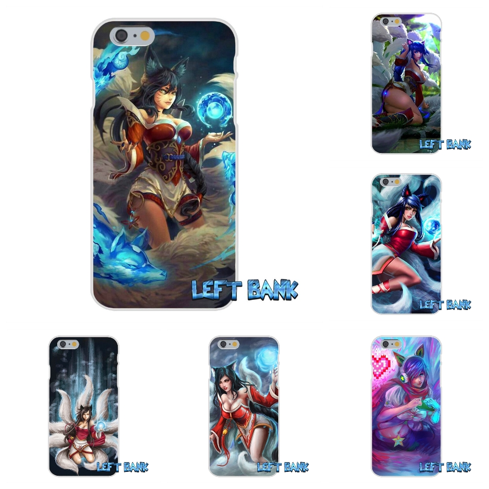 Luxury Ahri League of Legends LOL Soft Silicone TPU Transparent Cover Case For iPhone 4 4S 5 5S 5C SE 6 6S 7 Plus