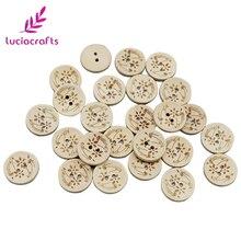 Lucia crafts 24 шт./лот 20 мм круглая лазерная маркировка Деревянные Пуговицы DIY аксессуары для одежды натуральное дерево; для шитья скрапбукинга E0111