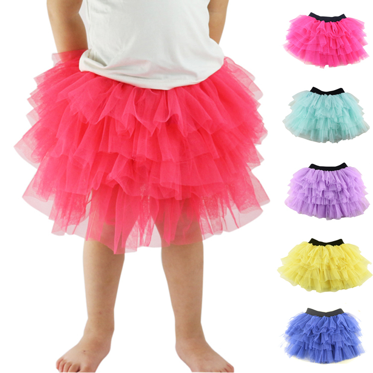 купить Wennikids Summer Baby Girl Candy Color Half-length Tulle Tutu Skirt 16 Colors Solid Color Wholesale Fashion Ball Gown Age 3-8 по цене 394.39 рублей