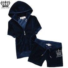 Summer Women's Brand Tracksuit Velvet Fabric Sportswear Hoodies Tops and Short P