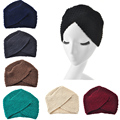 2017 Nueva Moda para Mujer de Invierno Cálido Knit Beanie Ganchillo Headwrap Turbante Suave Sombrero de Las Mujeres Cap Hairband