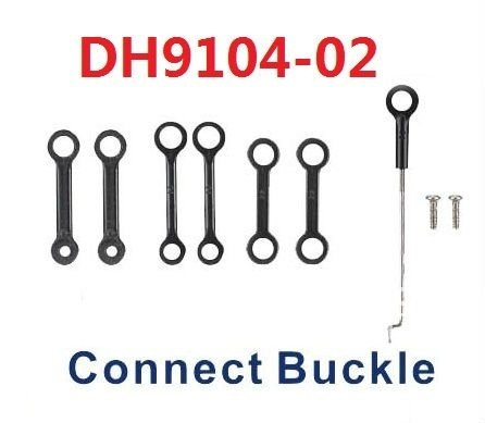 Free shipping DH9104-02 connect buckles rc part rc spare parts rc accessories for 71cm 3CH Gyro Metal rc helicopter DH9104