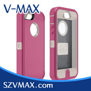 silicon case for iphone 5, 10pcs/lot, new retail box n clip,  silicon+pc, free China air mail shipping