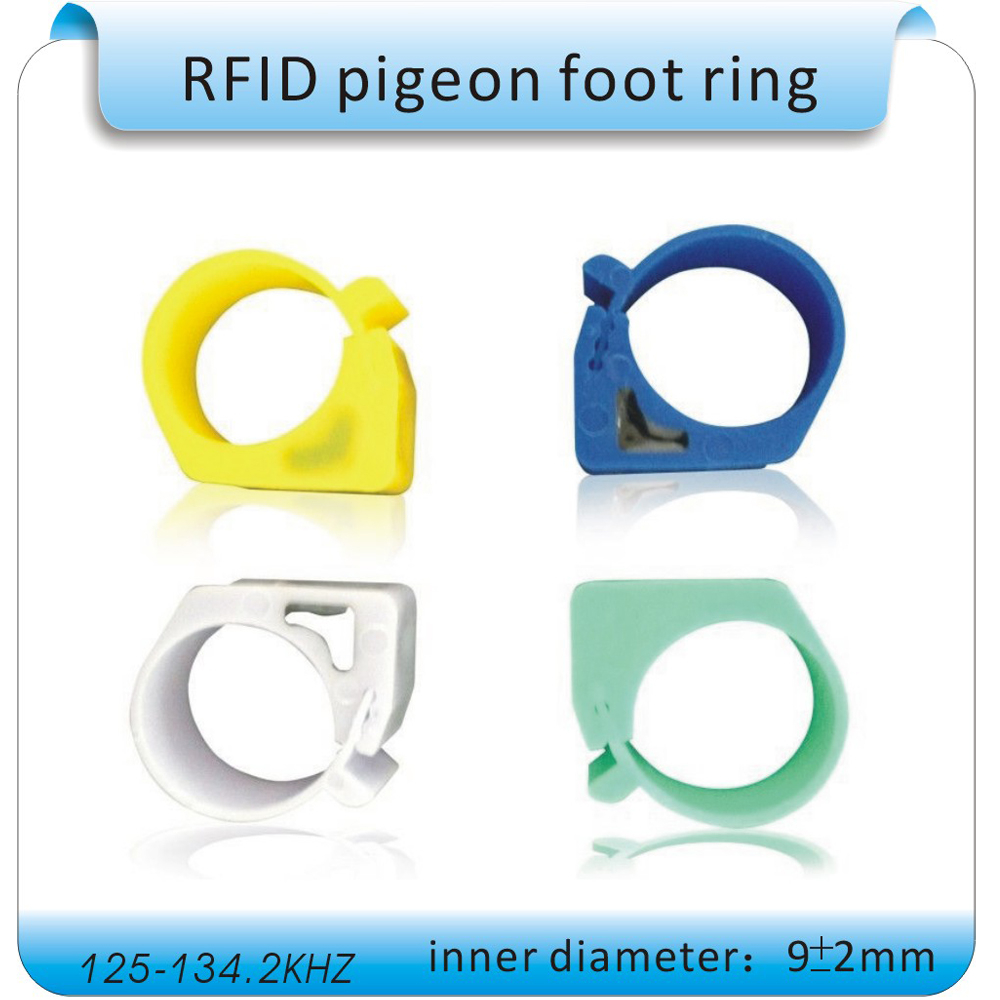 100pcs Chicken, duck, pigeon foot ring Transponder RFID card 125KHZ frequency chip TK4100 diameter 1.1cm
