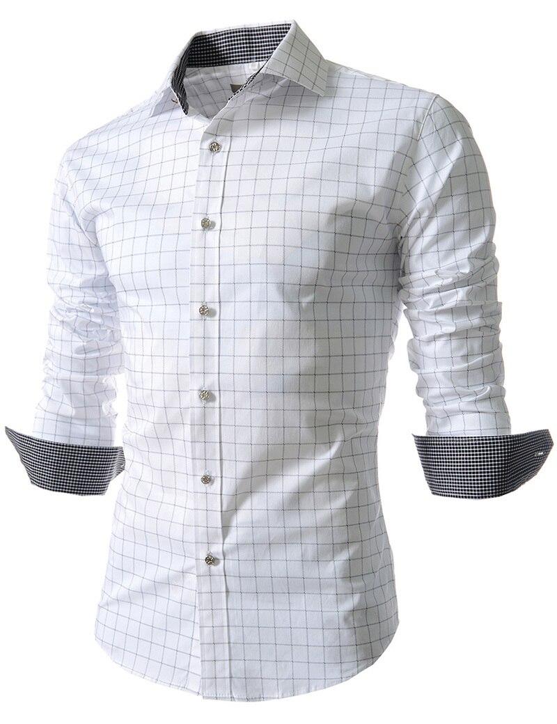 Hombre camisas a cuadros 2015 nueva moda Casual para