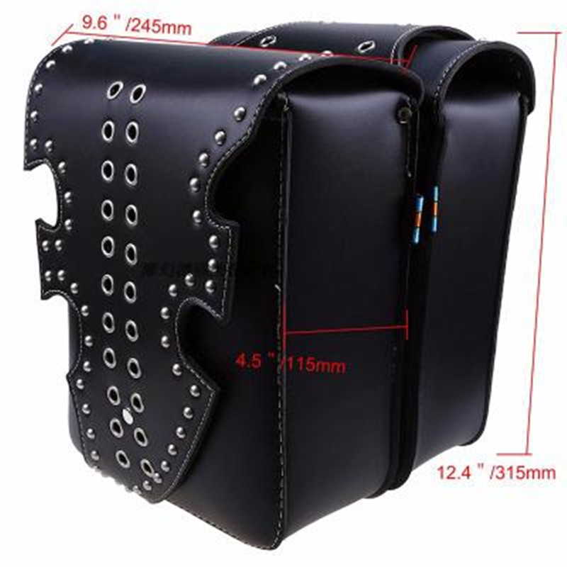 2017 new motorcycle luggage bags motorcycle modified side bag saddle bag side box kit PU leather for Halley cruise prince