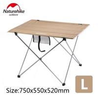 Naturehike factory sell Outdoor Folding Table Ultra-light Aluminum Alloy Structure Portable Camping Foldable Picnic Table