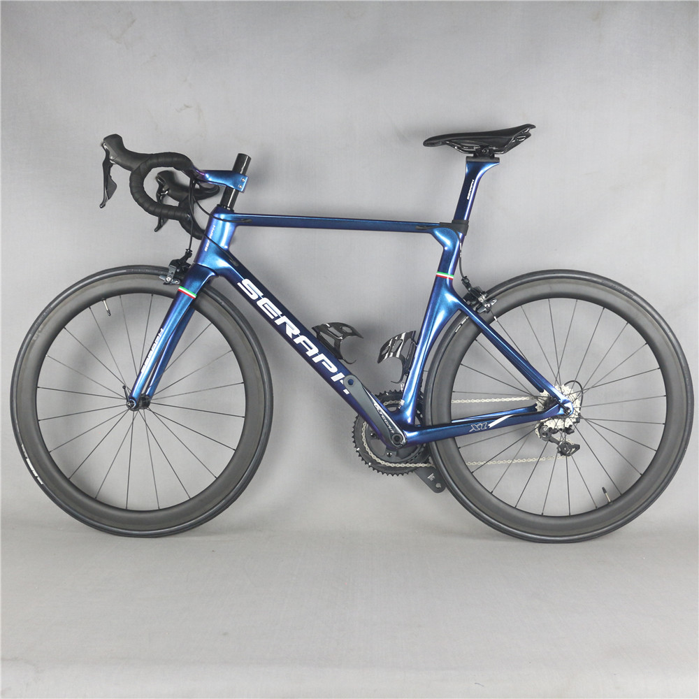 New Seraph Chameleon Painted Complete Bike Inter Cable With R8000 22 Speed Groupset Carbon Road Bicycle TT-X1
