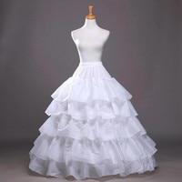 Wholesale 4 Hoops Ball Gown Petticoats Crinoline Underskirt Big Ruffle Wedding Accessories Petticoat Rockabilly Womans Plus