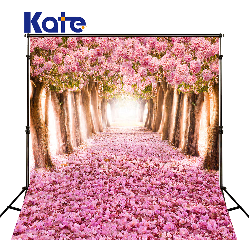 KATE Photo Background Pink Forest Photography Backdrops Naturism Children Photos Floral Wedding Photos Spring Scenery Backdrops kate photo background scenery