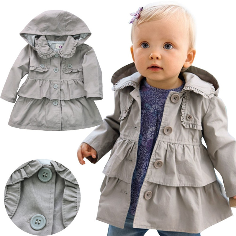 2017 girls jacket children's clothing girl trench coat ...