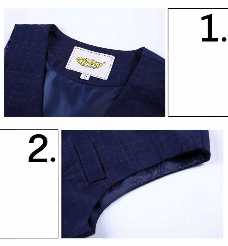 Модный костюм для мальчиков для свадьбы выпускного вечера вечерние 24 м-10 т детей Slim Fit костюм смокинг для мальчиков деловой жилет брюки классические костюм синий