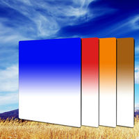 Zomei 100*150mm Gradual Tea+Blue+Orange+Red Square Filter Kit for Cokin Z Pro Cokin Z Lee Holder series