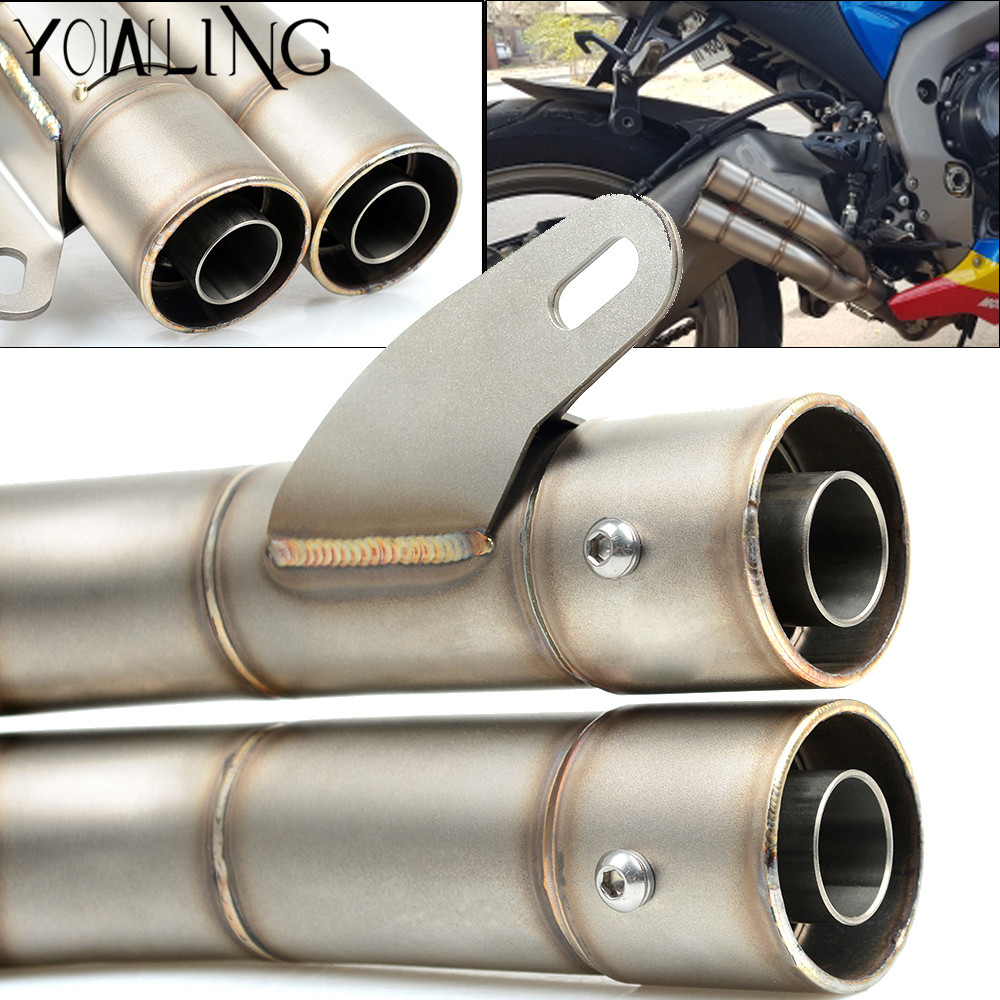 51MM Universal Motorcycle Scooter Exhaust Pipe Muffler For Kawasaki Z1000SX Ninja 1000 ZX10R ZX9R ZX6R ZX250R Z750S Z750 GTR1400 motorcycle handlebars clip on for kawasaki zx6r 600cc zx9r 900cc 1998 2002 page 2