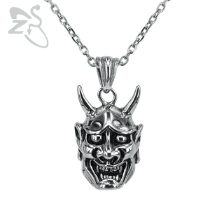 Подвеска из нержавеющей стали ZS, ожерелье в стиле хип-хоп, панк, байкер, панк