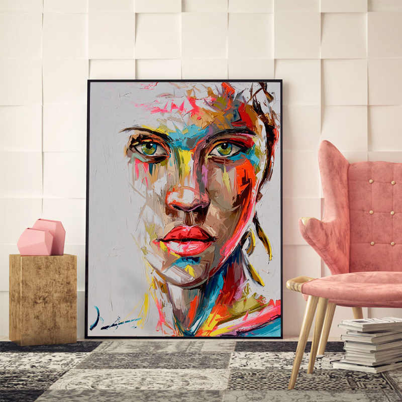 GOODECOR Wall Art Canvas Figure Painting For Home Decor Wall Art Picture Portrait For Living Room No Frame Abstract Wall Posters