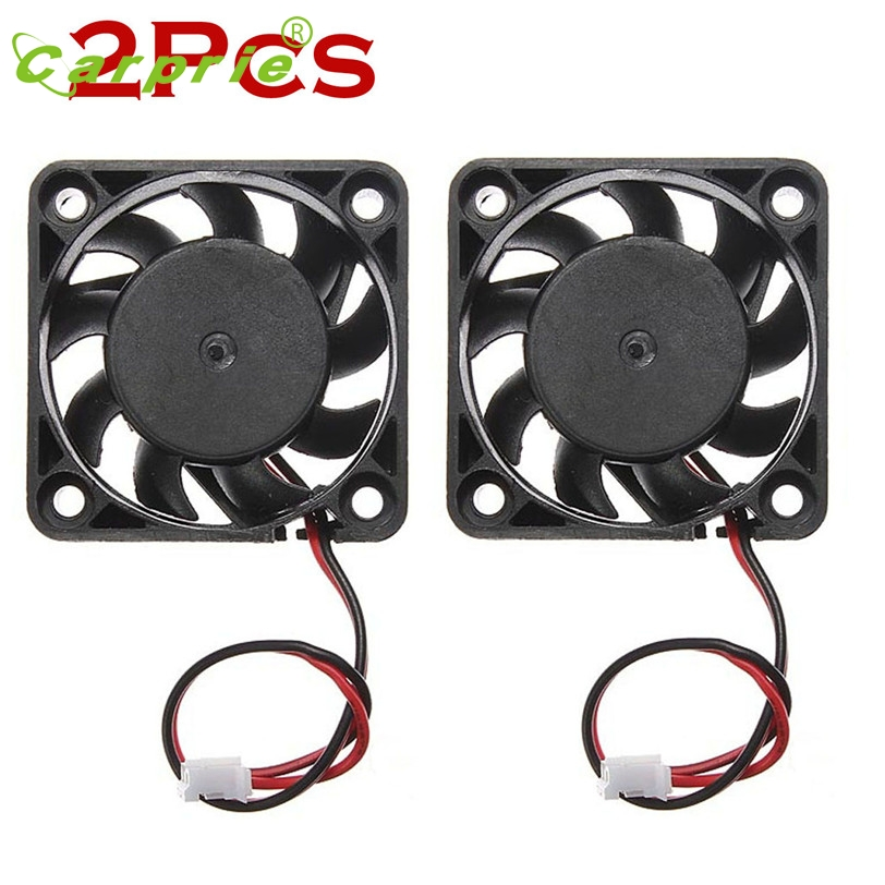 CARPRIE 2Pcs 12V Mini Computer Cooler Fan - Small 40mm x 10mm DC Brushless Cooling Fan 2-pin Mar30