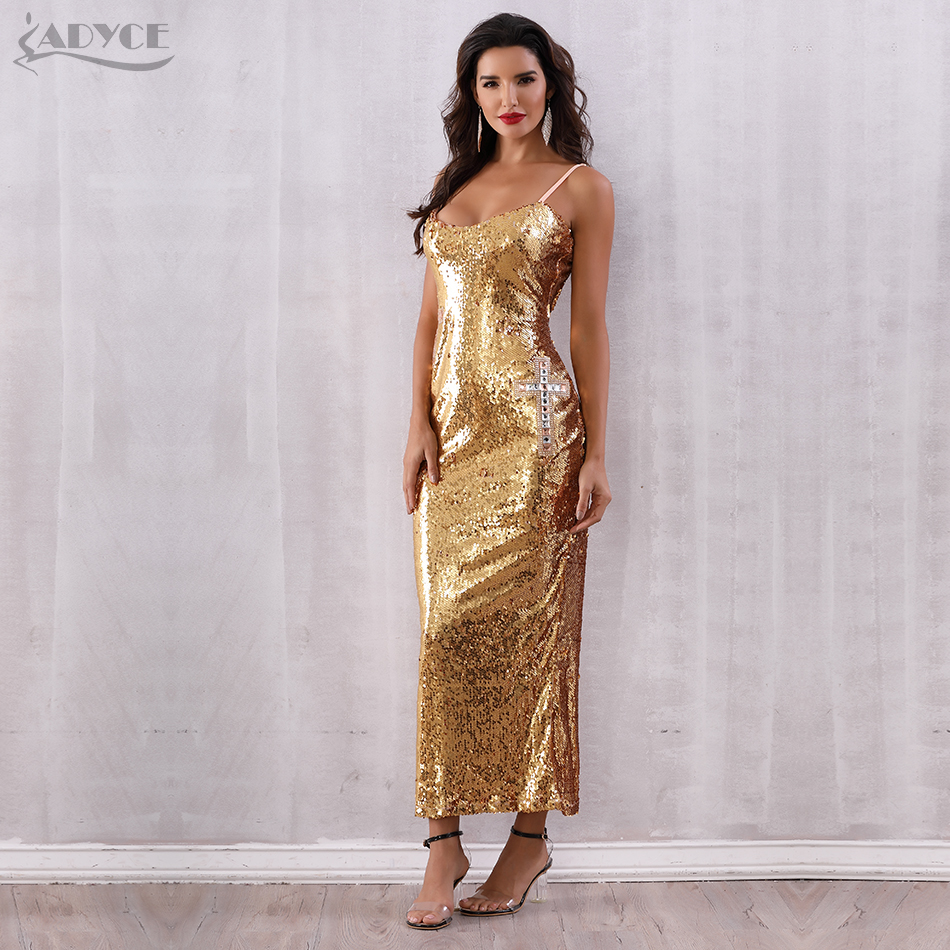 Backless Spaghetti Strap Sequin Club Dress 4