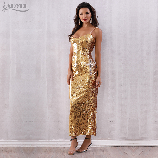 Backless Spaghetti Strap Sequin Club Dress 4