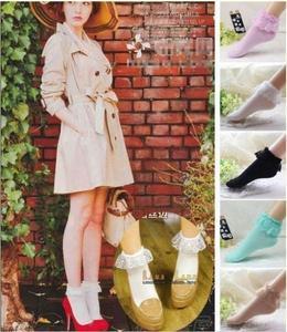 2019 المألوف جميل لطيف أزياء المرأة خمر الرباط الكشكشة مكشكش الكاحل الجوارب سيدة الأميرة فتاة المفضلة 5 اللون متاح