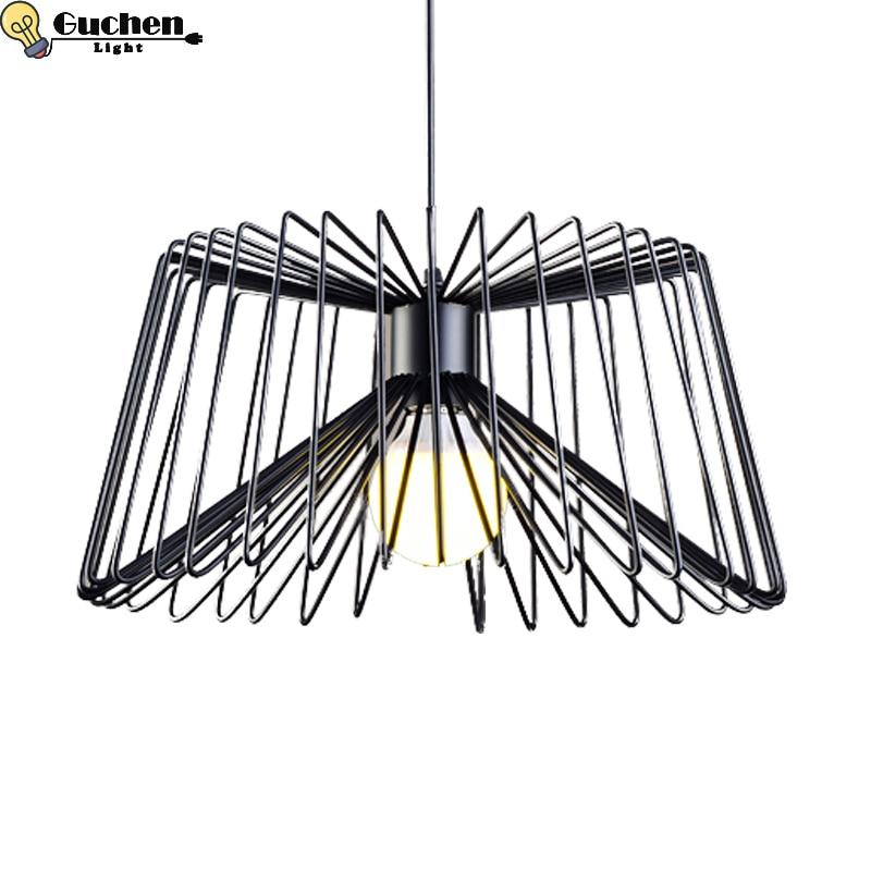 Vintage pendant light Retro indoor lighting desgin hanglamp bedroom/kitchen cage lampshade warehouse country LED light fixture