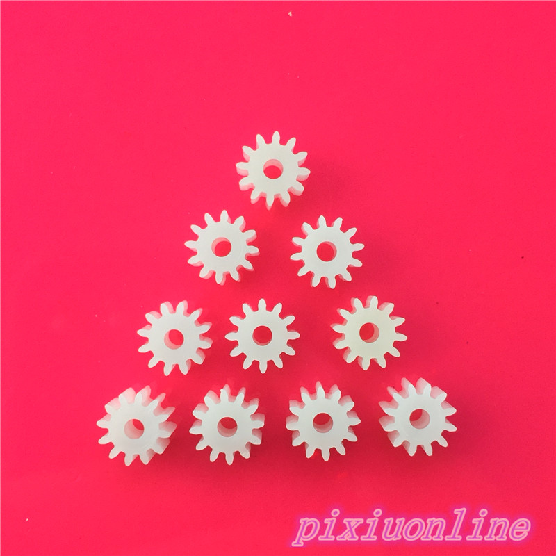 10pcs K024Y Mini Plastic 122A Motor Shaft Gear Sets 12 Tooth 2mm Hole Diameter DIY Helicopter Robot Toys  High Quality On Sale