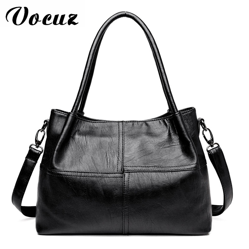 Famous Brand Ladies Hand Bags PU Leather Women Bag Casual Tote Shoulder Bags 2018 Sac New Fashion Luxury Handbags Large Tote Bag