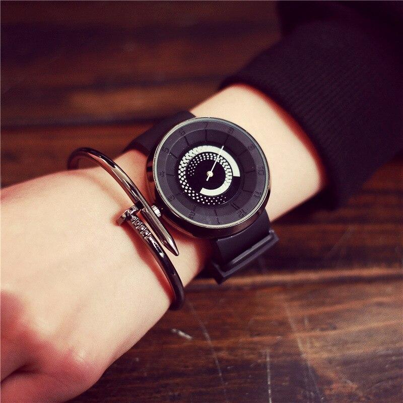 Designer High Quality Fashion Unisex Watches Men Women Simple Distinct Watch Face Silicone Strap Quartz Watches Montre 2