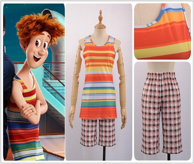 Film Hotel Transylvania 3 Jonathan Cosplay Costume Custom Made Male Summer Long Colourful T Shirt