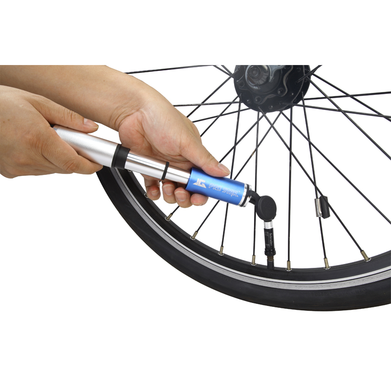 fast shipping Mini bicycle pump 1029 mini pump for cycling Mini pumps with hidden hose balls pump for schrader&presta 4 colors