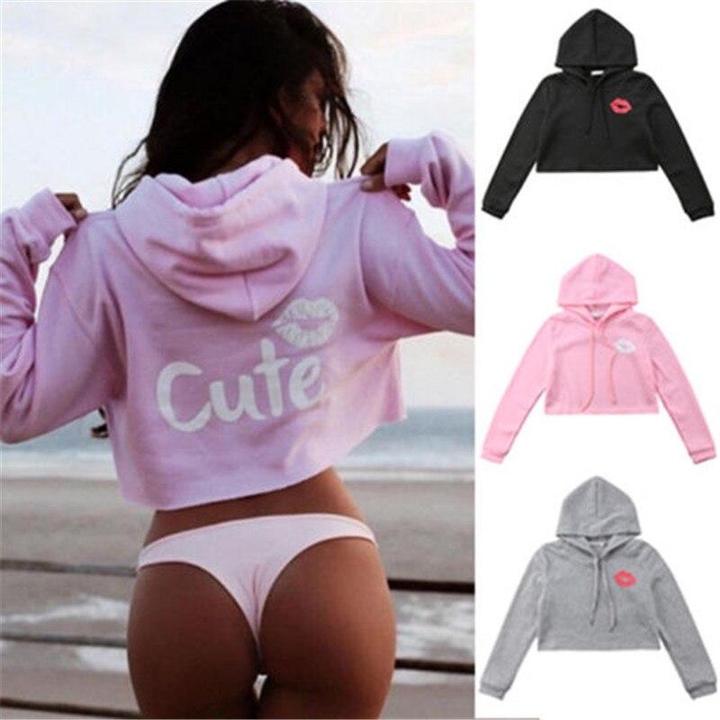 BTS Harajuku Womens Long Sleeve Cute Print Hoodie Hoodies Tops Sweatshirt Jumper kpop bape Crop Top Hoodies